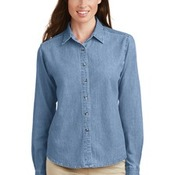 Ladies Long Sleeve Value Denim Shirt
